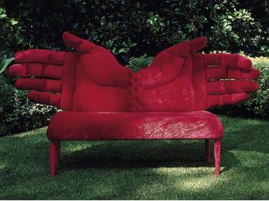 Velvet small sofa TWO HANDED