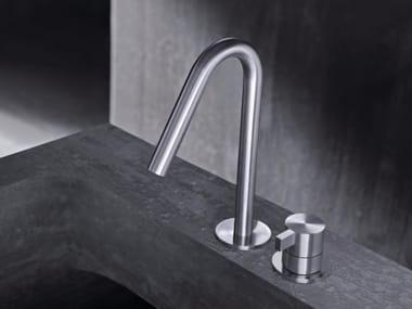 2 hole countertop single handle stainless steel washbasin mixer TXQ30 | Washbasin mixer