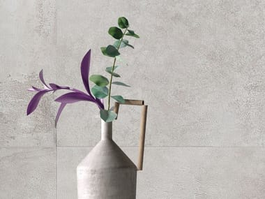 Porcelain stoneware wall/floor tiles with metal effect TYPE GREY