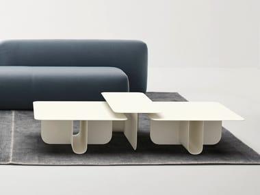 Tavolino di servizio in alluminio U | Tavolino in alluminio