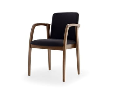 Stackable chair with armrests ULISSE | Chair with armrests