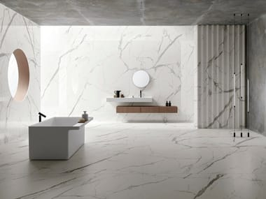 Porcelain stoneware wall/floor tiles with marble effect ULTRA MARMI - BIANCO STATUARIO