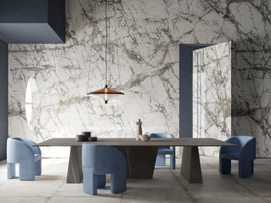 Porcelain stoneware wall/floor tiles with marble effect ULTRA MARMI - IMPERIAL GREY