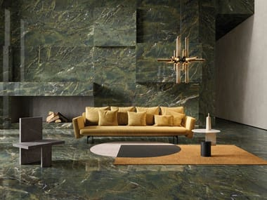 Porcelain stoneware wall/floor tiles with marble effect ULTRA MARMI - VERDE KARZAI
