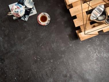 Pavimento/rivestimento in gres porcellanato effetto metallo ULTRA METAL - BLUE ZINC