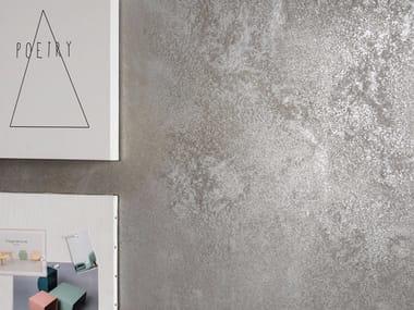 Pavimento/rivestimento in gres porcellanato effetto metallo ULTRA METAL - GREY ZINC