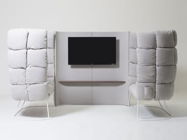 Sofá de tecido com encosto alto UNDECIDED | Sofá com encosto alto