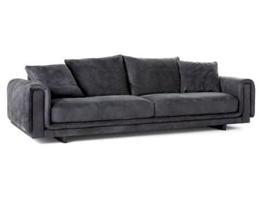 4 seater leather sofa UNDERLINE | 4 seater sofa