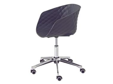 Task chair with 5-Spoke base with armrests with castors UNI-KA 597DR