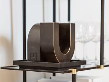 Bronze sculpture UNO BLACK