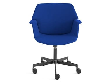 Swivel fabric task chair with 5-Spoke base UNO | Chair with 5-spoke base