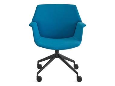 Cadeira operativa giratória de tecido com rodízios UNO | Cadeira com rodízios