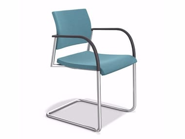 Cantilever upholstered stackable chair COOPER | Upholstered chair
