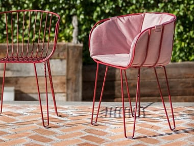 Upholstered stackable garden chair OLIVO | Upholstered chair