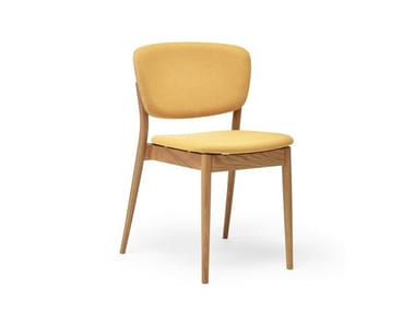 Upholstered stackable wooden chair VALENCIA | Upholstered chair