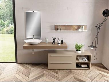 Single washbasin countertop UR11 | Washbasin countertop