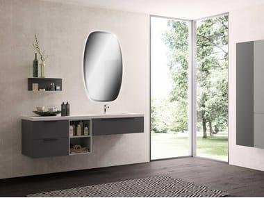 Single wall-mounted vanity unit UR16 | Vanity unit
