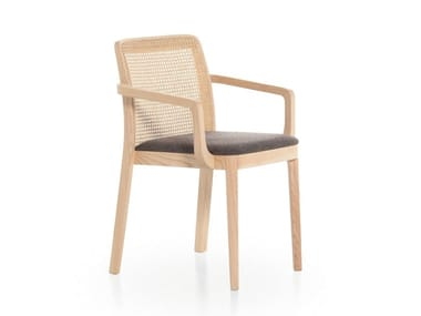 Ash chair with armrests URBAN 12C
