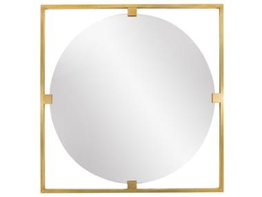 Round framed brass mirror TIMELESS URBAN 50