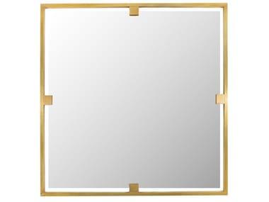 Square framed brass mirror TIMELESS URBAN 51