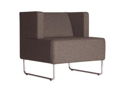 Fabric armchair URBAN 835