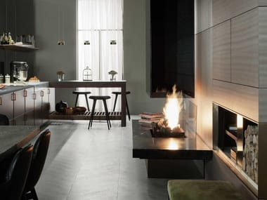 Gas central fireplace URBAN | Central fireplace