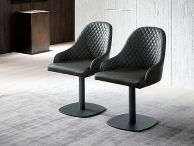 Upholstered chair with armrests URBAN