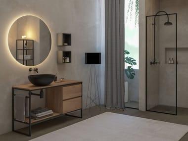 Mobile lavabo da terra in rovere URBAN STRUTTURA 03
