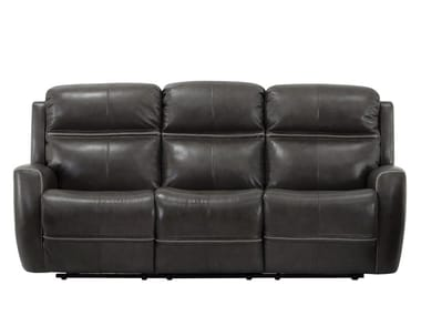 Recliner 3 seater leather sofa with electric motion US-193004PWHX001   3 seater sofa