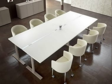 Rectangular meeting table US | Meeting table