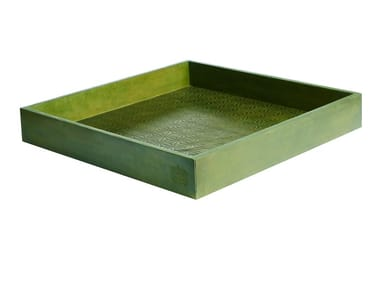 Square leather tray 352 | Square tray