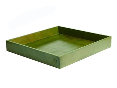 Square leather tray 352 | Tray