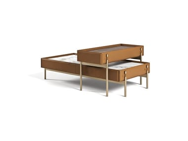 Rectangular marble coffee table V216 | Coffee table
