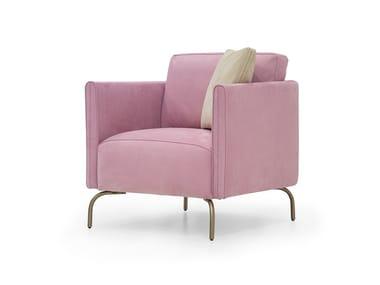 Nabuk armchair with armrests V257   Armchair