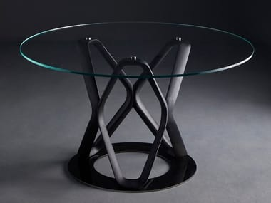 Round crystal table V6 | Crystal table