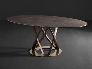 Oval porcelain stoneware table V6 | Oval table