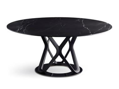 Round porcelain stoneware table V6 | Round table