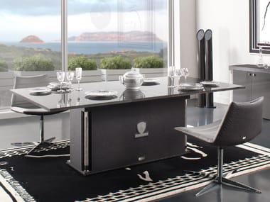Tavolo da pranzo rettangolare in fibra di carbonio VALENCIA | Tavolo