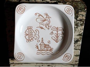Square ceramic tray VALLAURIS   Square tray