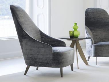 Upholstered velvet armchair VANESSA | Velvet armchair
