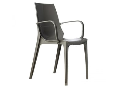 Polycarbonate chair with armrests VANITY | Chair with armrests