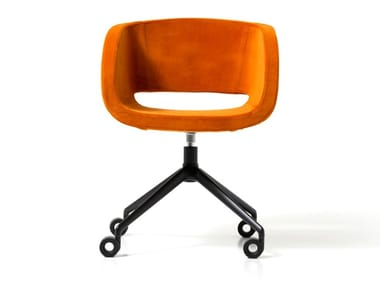 Fabric office chair with 4-Spoke base with castors VANITY | Office chair with 4-Spoke base