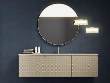 Sectional wall-mounted Laminam® vanity unit +SKIN   Vanity unit