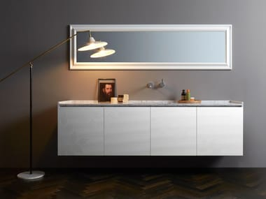 Wall-mounted vanity unit with drawers DONGIOVANNI | Vanity unit