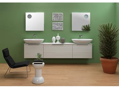 Wall-mounted vanity unit with drawers BOX | Vanity unit