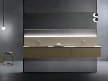 Mobile lavabo doppio sospeso EDEN | Mobile lavabo doppio