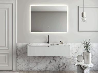 Single wall-mounted Carrara marble vanity unit PURE | Vanity unit