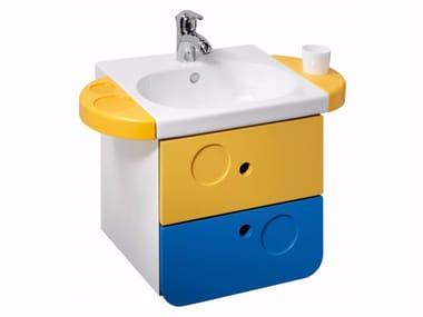 Single vanity unit with drawers MINIMÈ | Vanity unit