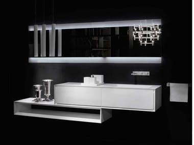 Mobile lavabo sospeso in Corian® con cassetti K.ONE   Mobile lavabo in Corian®