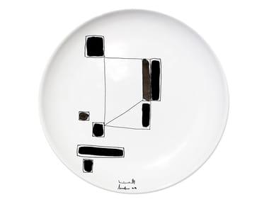 Ceramic dinner plate VARIATION III